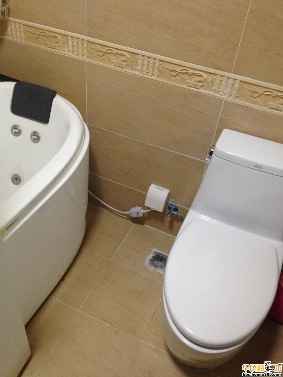 2013-01-01 18:24:20 7楼 这个卫生间,地漏换过,马桶也重装过,台盆的图片