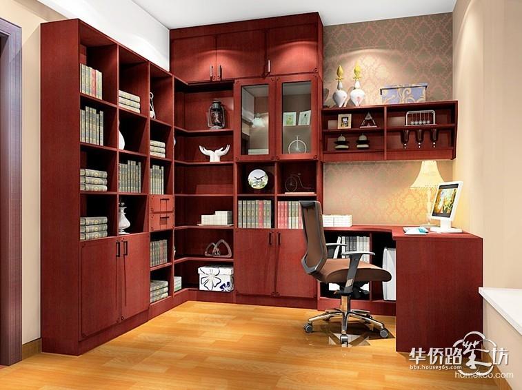 【中式大红书房】如何设计?小尚用实际案例告诉你!图片