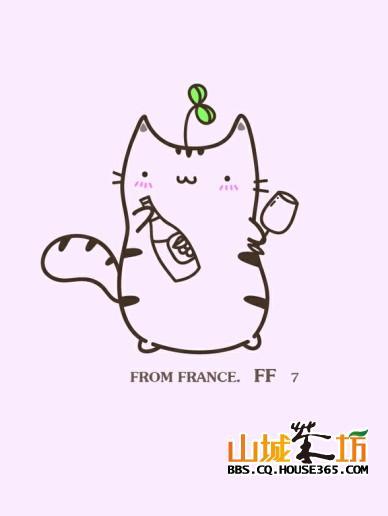 超可爱的猫咪简笔画,爱猫咪的人都看过来哦!喵