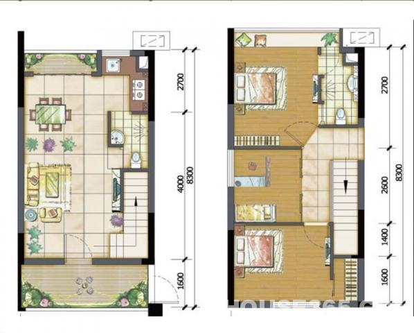 7x14米三房平面设计图