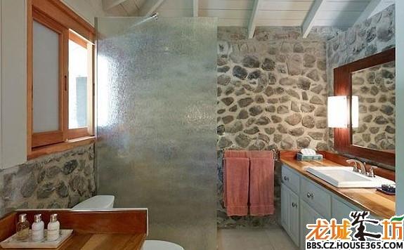 > 浴室隔断装修效果图之玻璃隔断