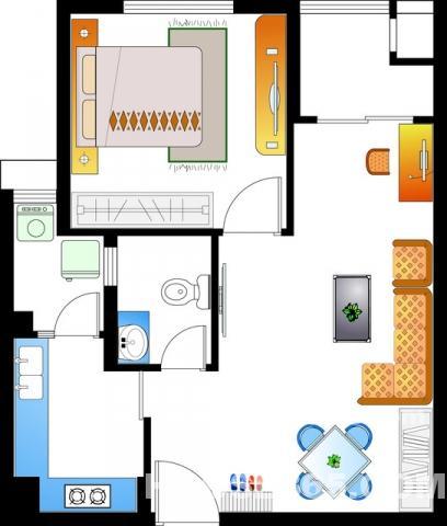 市中心北大街 新世纪旁京城豪苑 1室2厅景观房 精品装修 2100/月图片