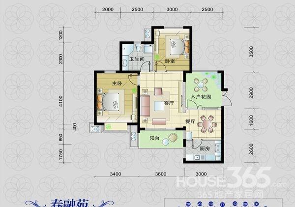 2室1厅 / 87㎡ / 毛坯 65 万元 滨湖世纪城树荫苑 两房全朝南 客厅