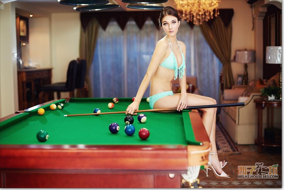 美女教你打桌球 j金成竹海水韵
