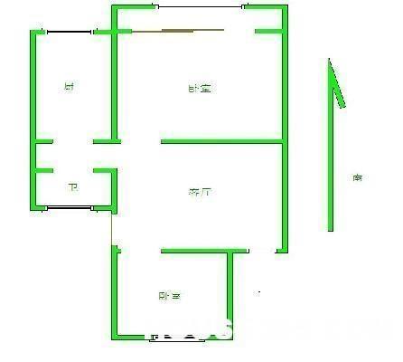 1厅两房平面设计图