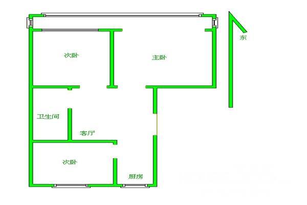 浦珠花园2室1厅1卫89平米整租精装