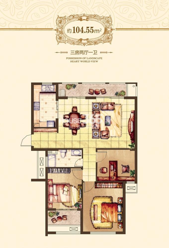 融侨观邸一期47-53#标准104.55平方米户型(6.19)