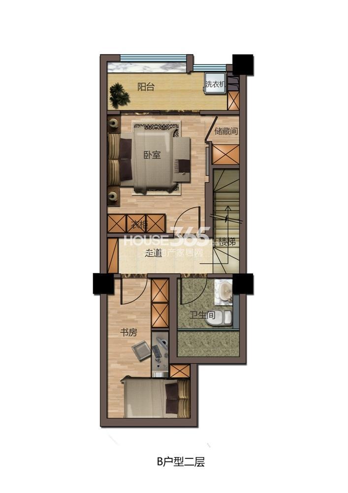 东方红郡公寓B户型二层