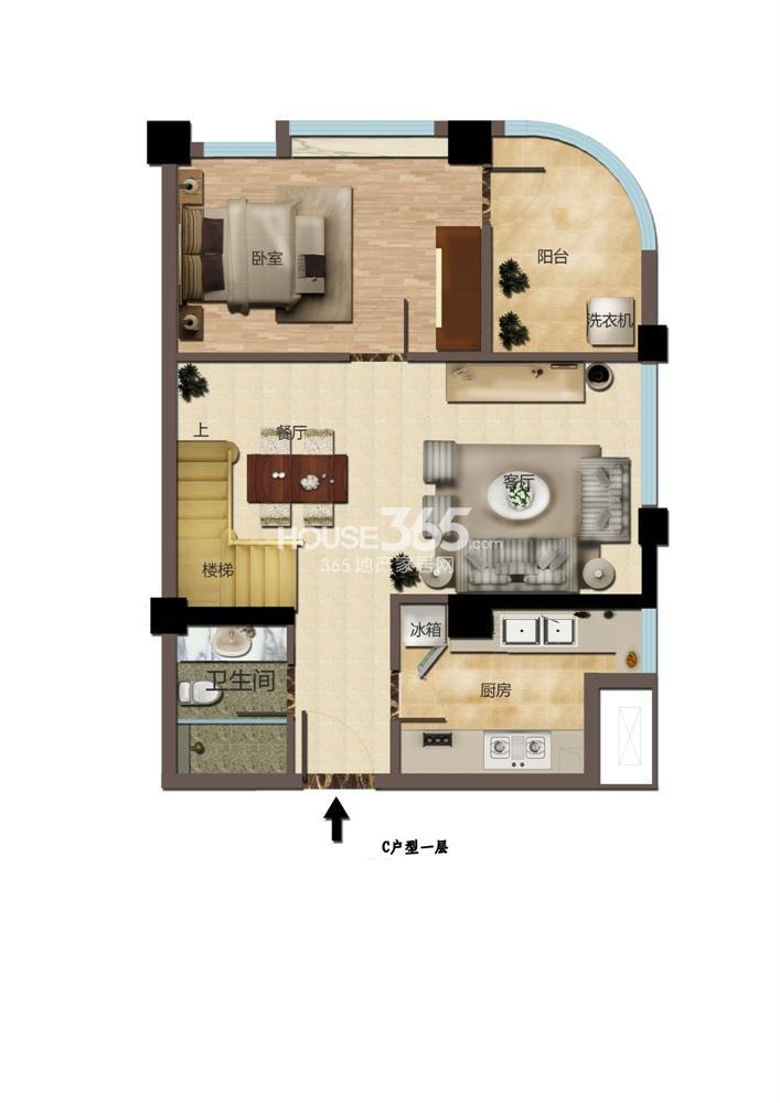 东方红郡公寓C户型一层