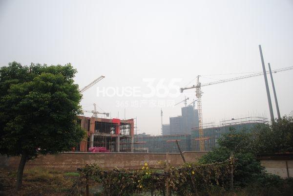 龙世西湖湾庄园建设中(2013.10.31摄)