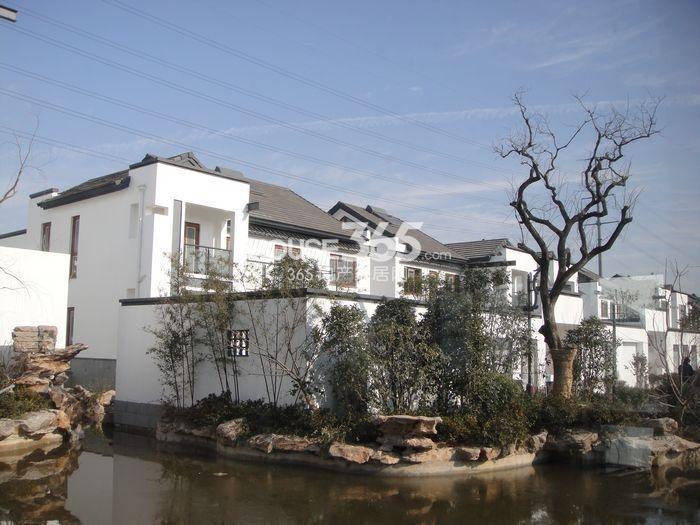 江扬运河印象规划88席现代中式大庭院别墅,主体建筑地上两层,地下一层