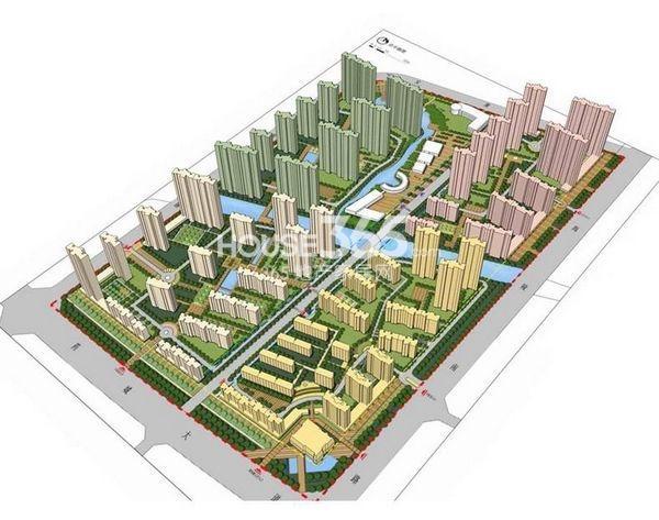 效果图 大华锦绣华城整体规划图
