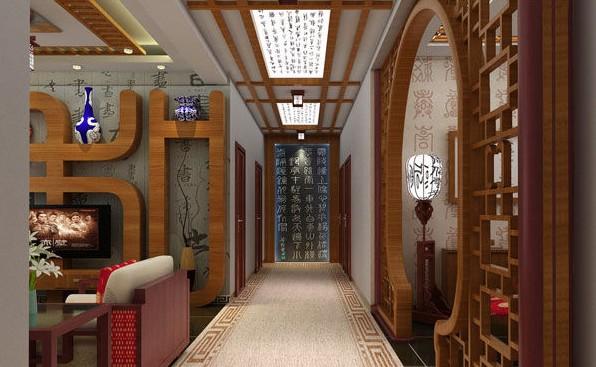 这一款中式隔断也是采用了弧形原木门把客厅和餐厅隔断开来,古典、华丽造型弧形门外若隐若现的餐厅隐藏丰富客厅看不到的精彩,带给客人神秘的遐想。各种矛盾层出不穷的社会,中国传统文化本身所具有的和谐泰然重新被人们所重视起来,结合当代人的审美需求,传统的建筑风格再次获得了新生,国自数千年前即使用木材,发明校梁间架。