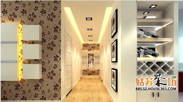 门厅吊顶造型效果图-8;