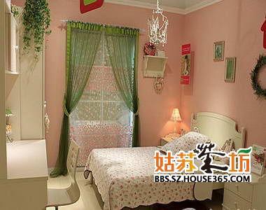 8-10平米女孩房   欧式儿童房装修效果图:粉色图片