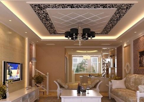 简欧客厅吊顶效果图 质感装修让居室潮流起来