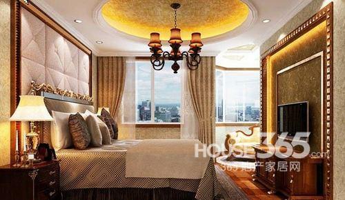 卧室装修效果图:欧式复古风情卧室