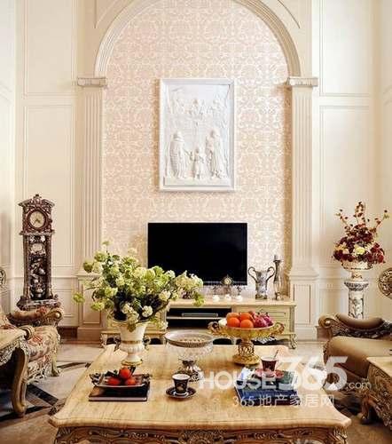家装电视墙设计:欧式宫廷气质的电视墙