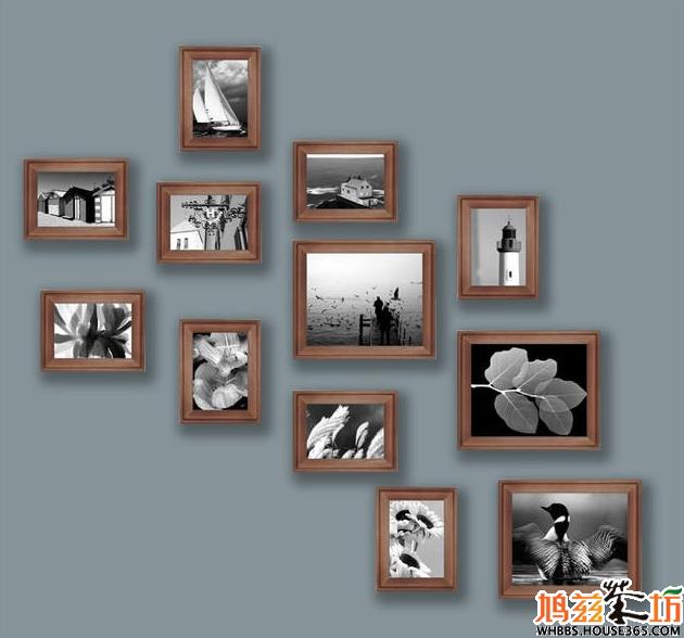 实木照片墙组合:非常的有意境和设计美感图片
