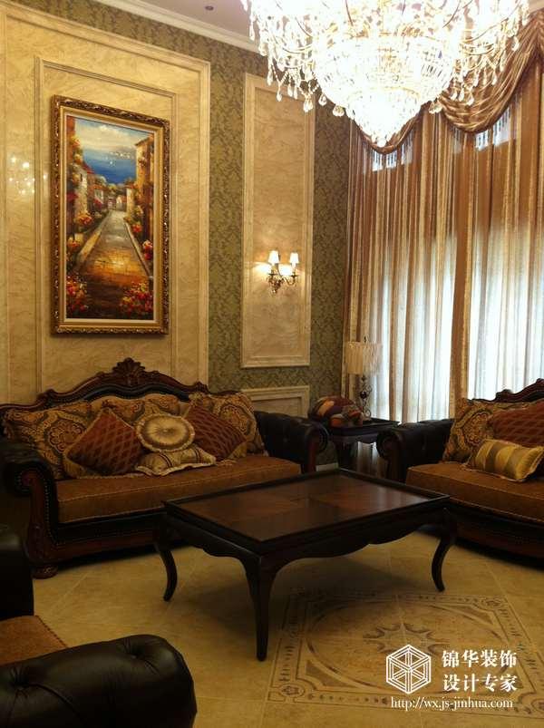 欧洲贵族住宅; 客厅装修效果图-装修图片-南京锦华