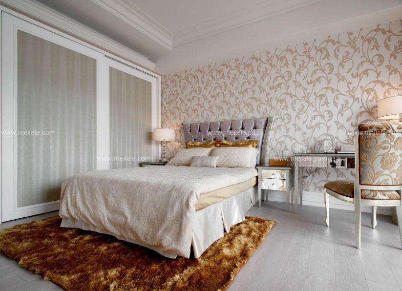 卧室装修贴墙纸效果图