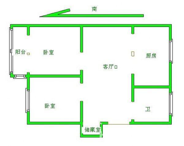 茂业地铁口沁园新村靠六中1楼全装朝南2室2厅送双院看房有钥匙