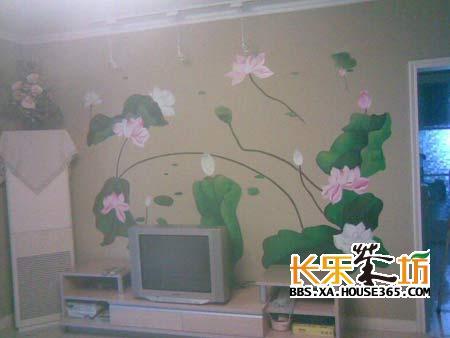 > 客厅手绘效果图欣赏,点亮你家精致的背景墙