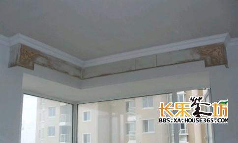 欧式装饰窗帘盒线条安装效果图